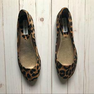 NWOB Steve Madden cheetah flats P heaven